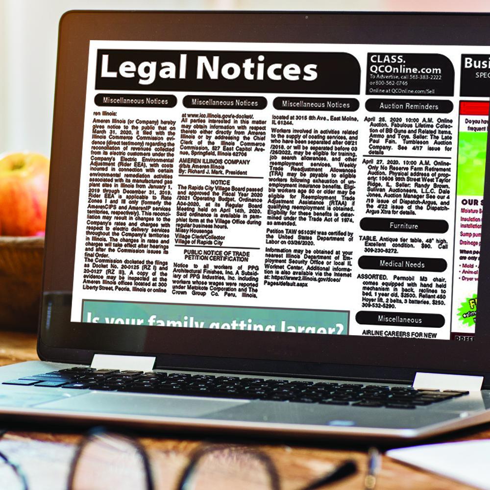Legal Public Notices